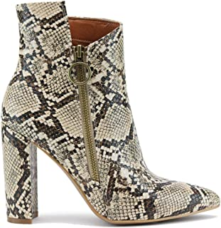 Beast Fashion Cadence-02 Suede Pointy Toe Block Heel Ankle Booties