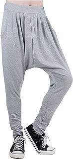 Men Elastic Waist Tapered Leg Baggy Harem Pants