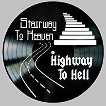 Stairway to Heaven Highway to Hell design on Vinyl Record Album Wall Art Gift for Him