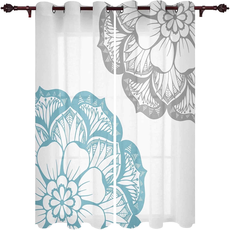 Grommet Window アウトレットセール 特集 Curtain Dahlia Flower Large Floral Abstract ショップ Petal