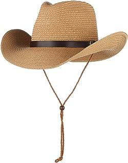 GEMVIE 子供 帽子 つば広 カウボーイハット ベルト飾り 麦わら帽子 テンガロンハットUV対策 キッズ ハット 男の子 女の子