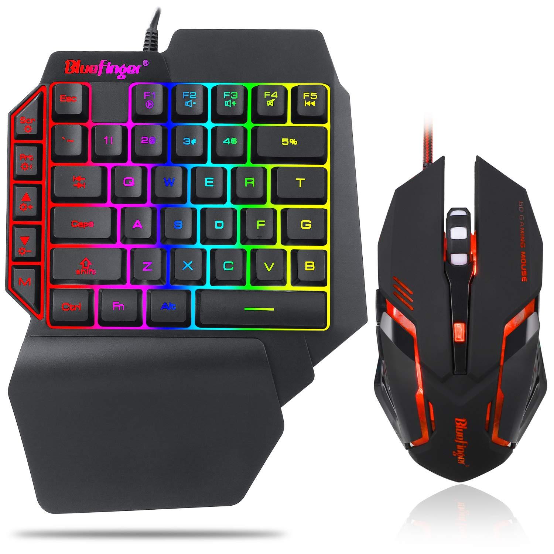 Keyboard Backlit Rainbow Letters Mechanical