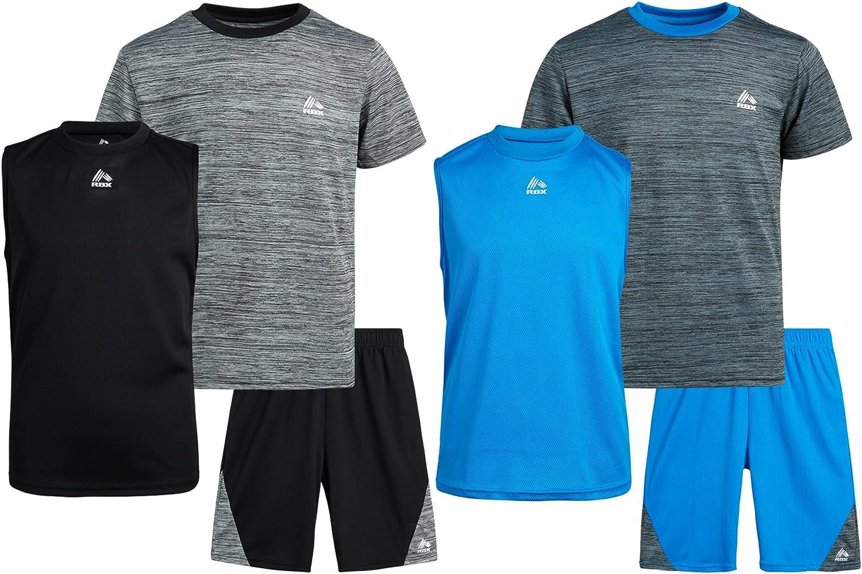 RBX Boys' Activewear Set – Short Top Tank T-Shirt 5% OFF Import Sleeve