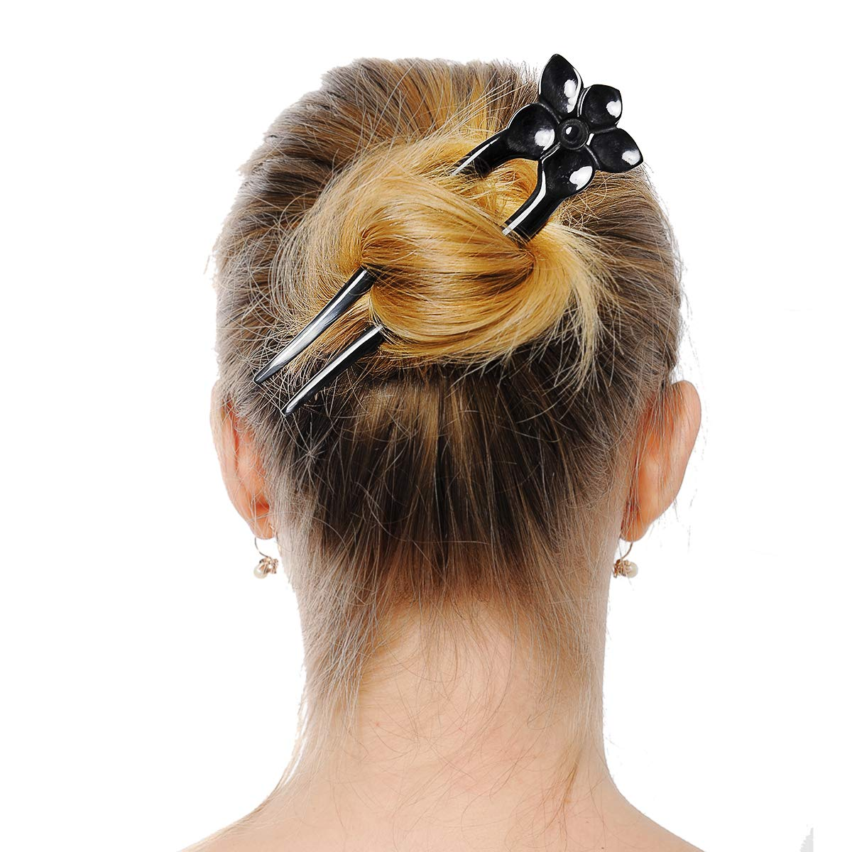 Details about  /MARYCRAFTS WOODEN RAM HAIR FORK HAIR PIN FOR BUNS HAIR ACCESSORIES FOR WOMEN