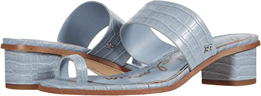 Cloud Blue Kenya Large Croco Leather