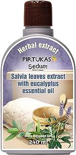 Extrait de fines huiles essentielles aux herbes naturelles Sedum pour sauna - Infusion de sauna avec Extrait de feuilles d...
