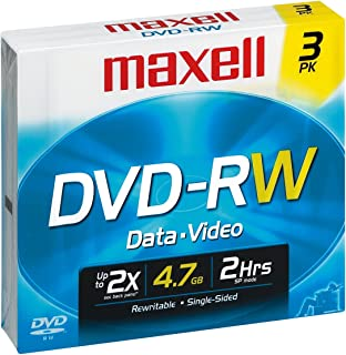 Maxell 4.7GB 2X DVD-RW (3 -Pack)