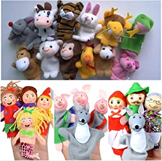 MeetButter Finger Puppets for Early Toddler Education | Fun & Artistic Way of Story Telling, Teaching, and Learning with Children | Cute Mini Toys for Small Kids & Babies | 23 Pcs, 4 Different Sets