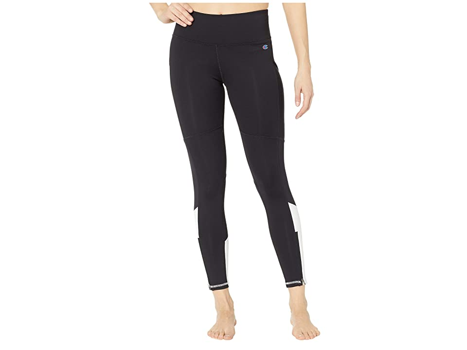 Champion Fashion Tights 7/8 Novelty Blocking (Black/White) Women