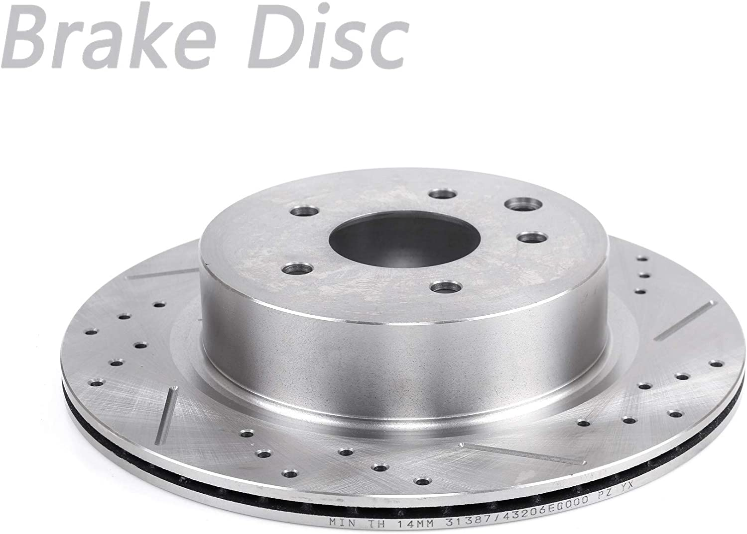 Uncle Johnny 1pc Super popular Louisville-Jefferson County Mall specialty store Rear Left Drilled Slotted Rotor Di Brake Vented