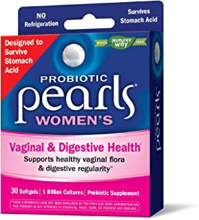 Probiotic Pearls Once Daily Women's Probiotic Supplement, 1 Billion Live Cultures, Survives Stomach Acid, No Refrigeration, 30 Softgels (Packaging May Vary)