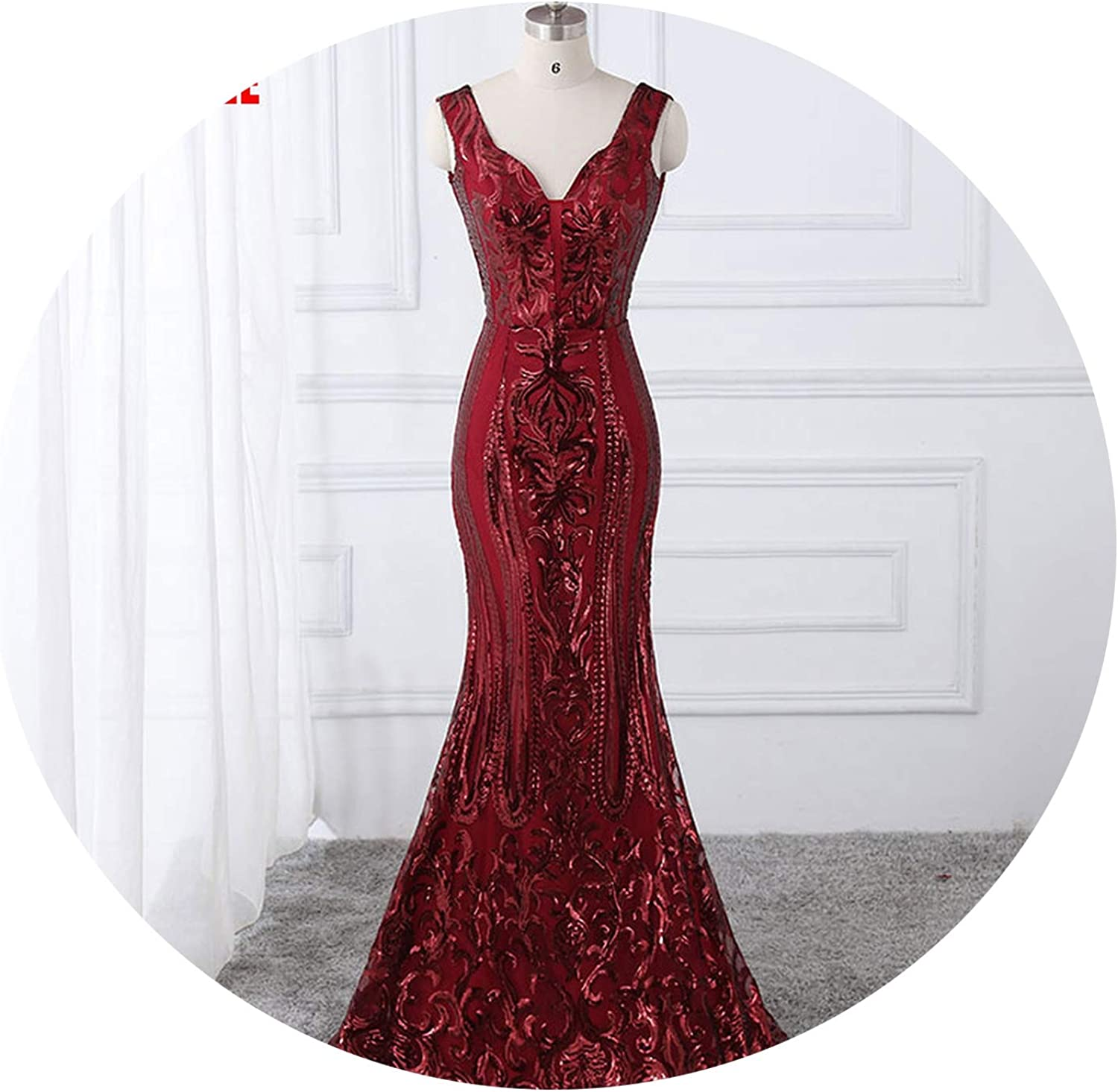 Classic Party Dress Evening Dresses Prom Bling Sexy VNeck Sequins Style