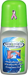 Naturally Fresh Deodorant Crystal Roll On, Fragrance Free, 3-Ounce Bottles (Pack of 6)
