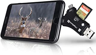 Trail Camera Viewer SD Memory Card Reader (Real Tree Edge Camo، Black) 4 در 1 مناسب برای iPhone iPad Mac