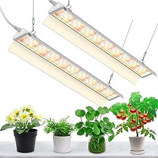 SZHLUX LED Grow Light for Indoor Plants 2FT 80W (2×40W, 600W Equivalent) Full Spectrum Sunlight Plant Light, High Output G...