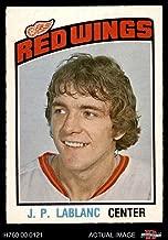 1976 O-Pee-Chee NHL # 326 J.P. LeBlanc Detroit Red Wings (Hockey Card) Dean's Cards 5 - EX Red Wings