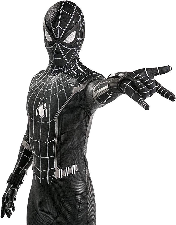 Lotusuncostume Black Superhero Bodysuit Spandex Zentai Suits Halloween Cosplay Costume