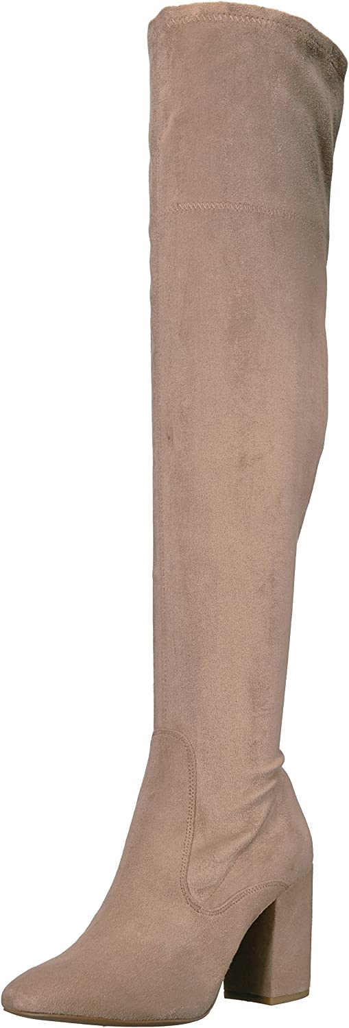 Kenneth Cole New York Womens Carah Knee High Tall Boot Stretch Engineer Boot