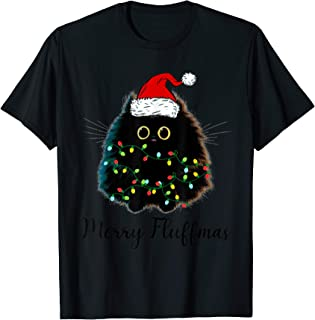 Merry Fluffmas Cats With Santa Hat Merry Christmas Gifts T-Shirt