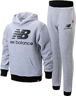 New Balance Boys' Jogger Set - 2 Piece Pullover Hoodie Sweatshirt and Sweatpants Activewear Set (Big Boy), Size 14/16, Grey