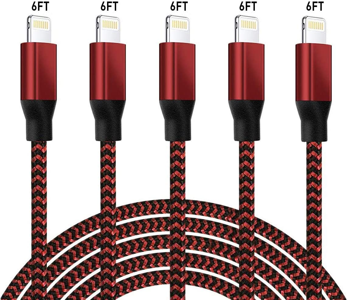 iPhone Charger Lightning Selling Cables 6FT Max 58% OFF 5Pack Chargin Certified Mfi