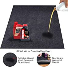 Convelife Premium Absorbent Garage Floor Oil Mat - Reusable - Oil Pad Contains Liquids, Protects Garage Floor Surface 3' x 4' Dark Gray