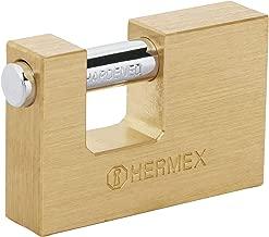 Hermex COR-65, Candado antipalanca, cuerpo de latón de 65mm