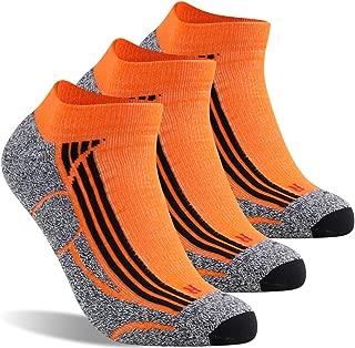 LANDUNCIAGA Men's Ankle Running Socks Unisex Compression Cycling Tennis Athletic Socks 10-15 mmHg, 1/3/6 Pairs