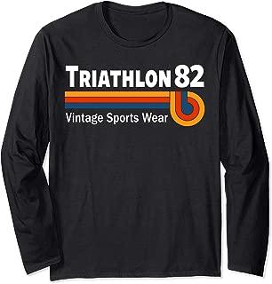 Retro Vintage Triathlon & Triathlete Clothing - Triathlon Long Sleeve T-Shirt