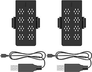 Holy Stone 3.7V 750mAh Lipo バッテリーとUSB充電線 2個セット for HS230 バッテリー マルチコプター ドローン用スペアパーツ