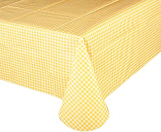 GOOD SUN Exquisite Flannel Backed Vinyl Tablecloths, Printed Design Premium Quality Waterproof Table Cover Table Cloth (52
