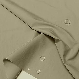 TOLKO Outdoor Stoff/Segeltuch Meterware | Stark Wasserabweisender Baumwollstoff für Regen-Jacken, Planen, Regenschutz beige