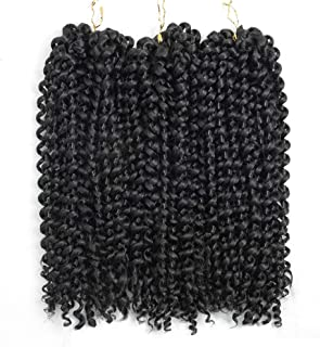 YXCHERISHAIR 10inch 3PCS/LOT,Synthetic Jerry Curl Weave Deep Wave Mambo Twist Crochet Braids with Kanekalon Fiber Heat Res...