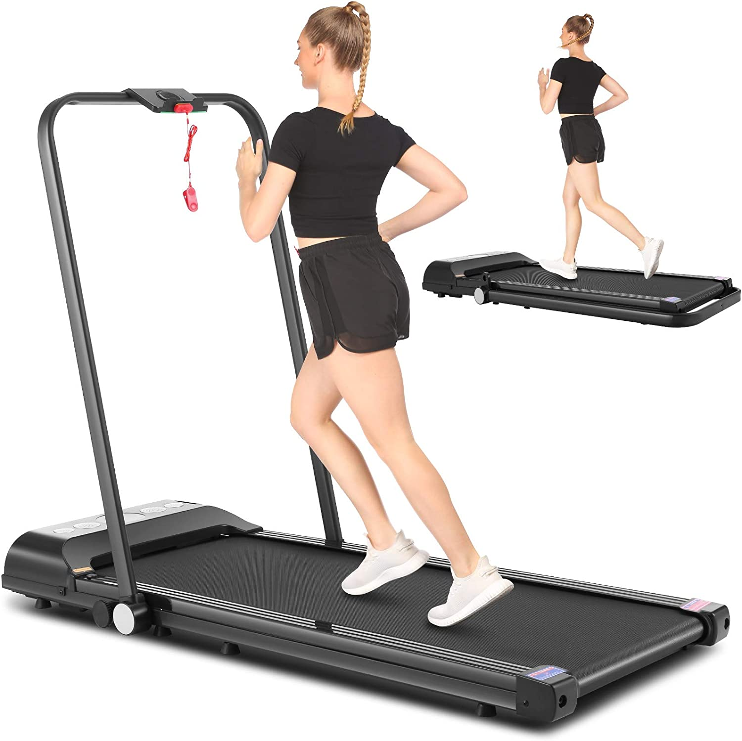 High quality new National uniform free shipping SYTIRY Desktop Foldable Treadmill Walking 2-in-1 Home Machine
