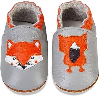 MAECKI Chaussons Bébé Chaussures Cuir Souple Premiers Pas Chaussures Cuir Souple Bébé Fille Garçon Chaussures Bébé