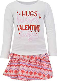 Unique Baby Girls Live Love Learn 2 Piece Back to School Dress Skirt Set
