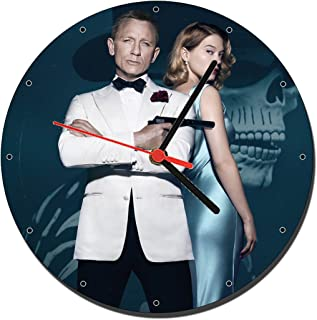 MasTazas James Bond 007 Spectre Daniel Craig Lea Seydoux Reloj de Pared Wall Clock 20cm