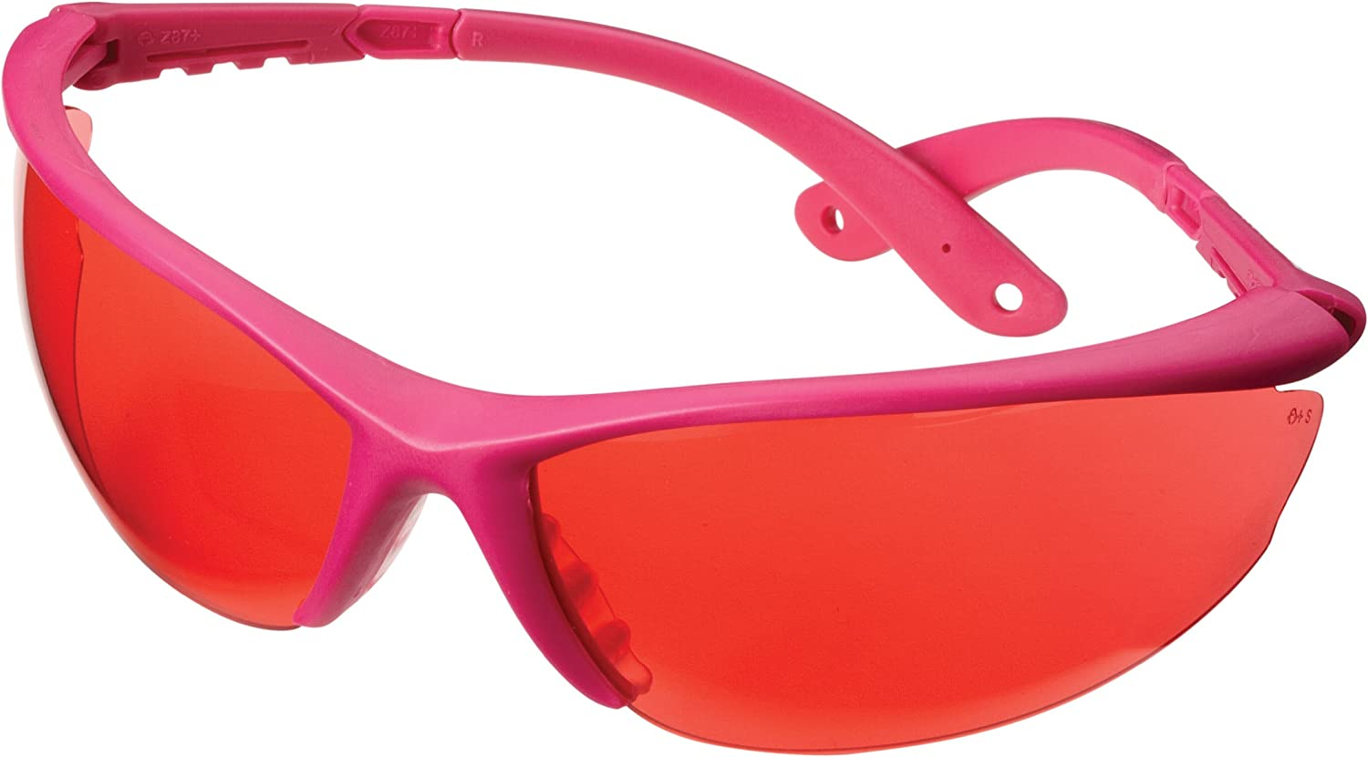 Champion Shooting Glasses with Black Open Frame (pink Lens)