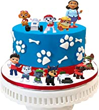 12PCS PAW Patrol Cake Toppers for Baby Shower Birthday Party Cake Decoration