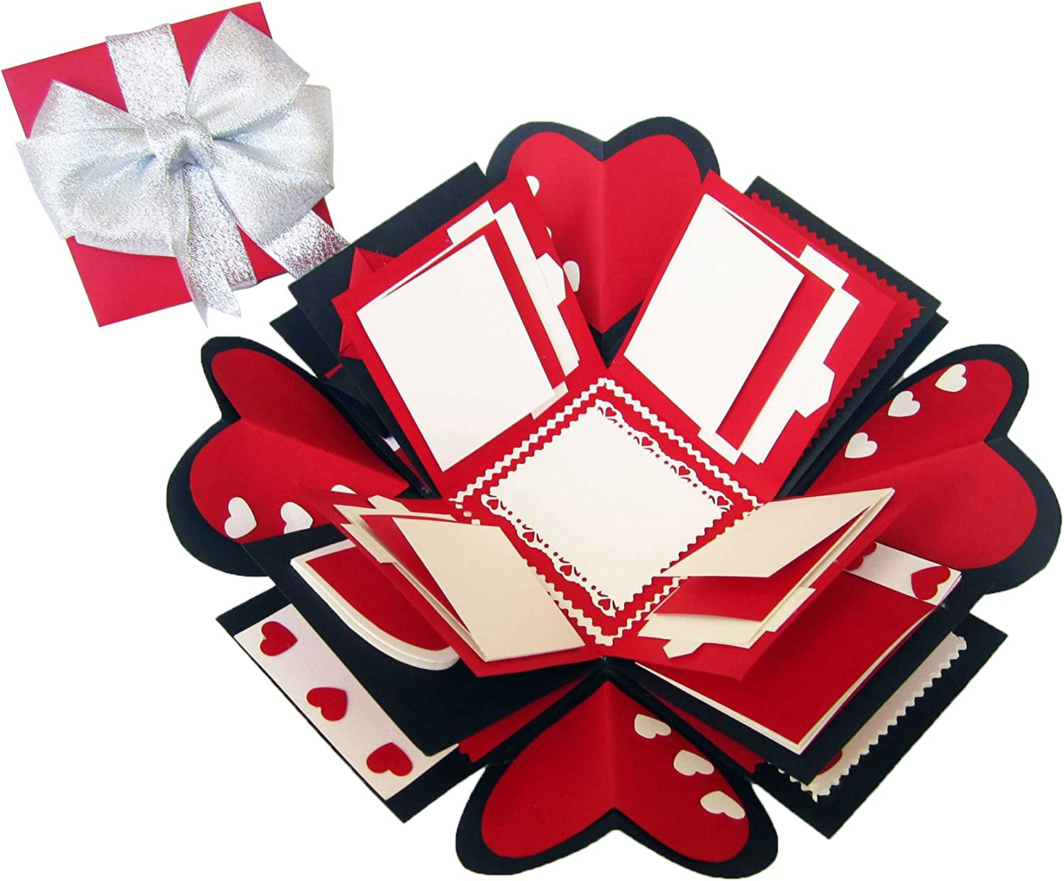 Love Explosion Gift Box Photo Album Red 100 Handmade With Craft Paper Arts Crafts Sewing