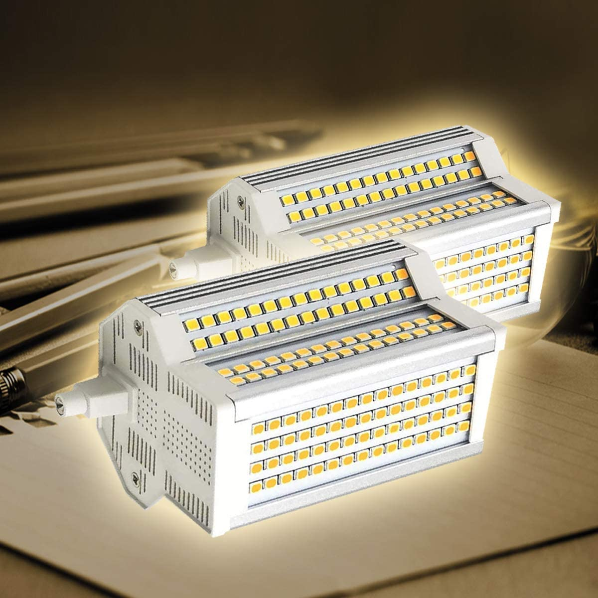 BULBS 2-pc R7S 118mm LED Dimmable OFFicial site Ranking TOP12 White Warm Doub 3000K 500W 50W