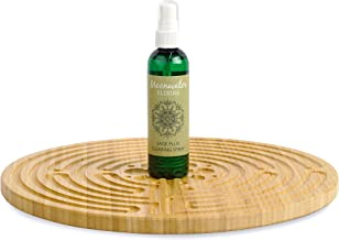 """Meditation Kit with 12.5"""" Chartres Double Sided Finger Labyrinth and Sage Spray for Meditation, Prayer and Space Clearing"""