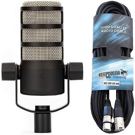Rode Podmic - Microfono dinamico professionale con cavo Keepdrum XLR 6 m