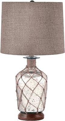 Elk Lighting 289 Jute-Wrapped Mercury Glass Table Lamp