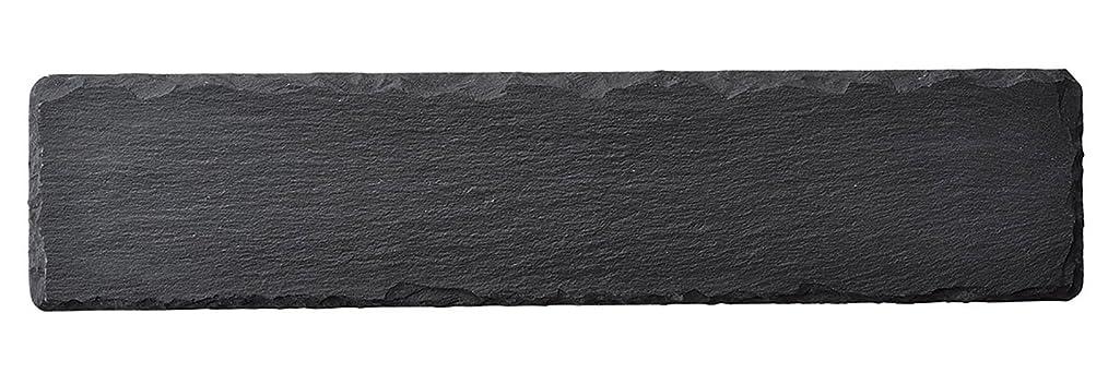 ひそかに若い反対に光洋陶器 天然石 ナロー スレートプレート 36cm R5000090