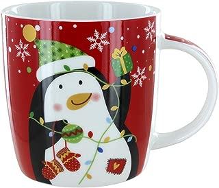 Christmas Holiday Red Penguin Mug Gift Boxed
