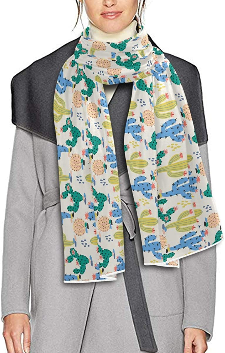 Scarf for Women and Men Cute Cactus Shawl Wraps Blanket Scarf Soft warm Winter Oversized Scarves Lightweight
