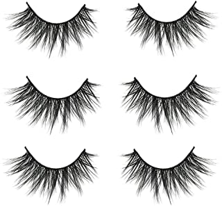 VGTE 3D False Eyelashes Extension 3Pairs Makeup Hand-made Dramatic Long Lashes Reusable Cruelty-Free Fake Eyelash