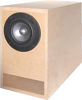 B5サイズより一回り小さいコンパクト・バックロードホーン 組立済み自作キット CBLH-A5UG(2個1組)[推奨SPユニット付 MarkAudio社 Alpair5v2SS Grey 2個セット]