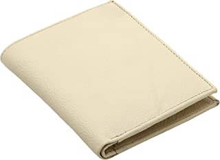 BDS CREATIONS 9 100% Pure Genuine Leather Mens Casual, Trendy White Leather Wallet